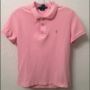 Ralph Lauren The Skinny Polo Pink Pullover Shirt L